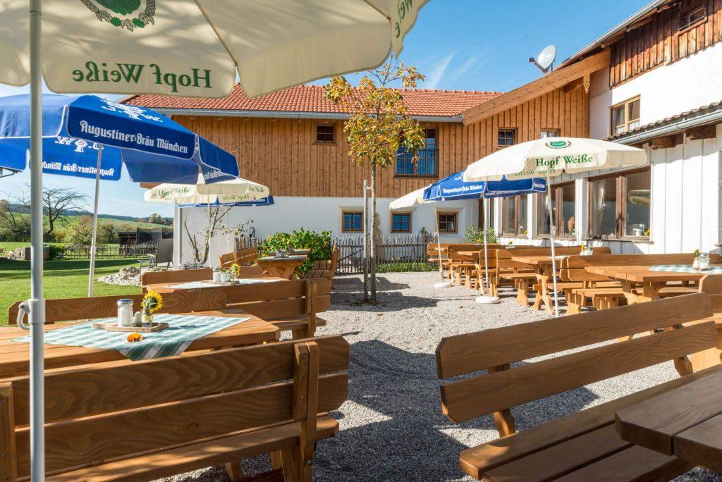 Hotel Pension Cafe Schweizerhaus Weyarn   Biergarten Sonnenterrasse ...